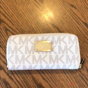 Michael Kors zip around Monogram wallet